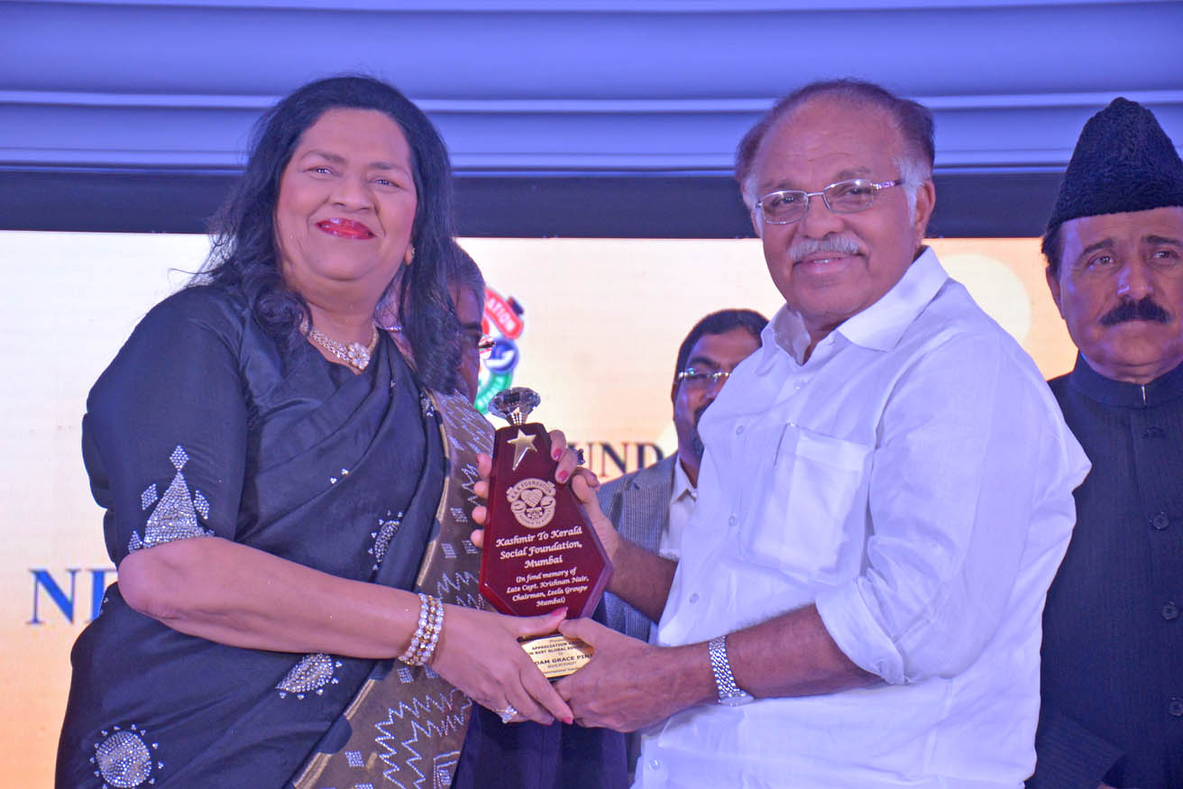 Best Educationist Award conferred upon Madam Grace Pinto